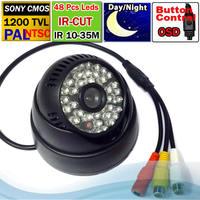 "Free shipping 1/3"" 1200TVL 48 IR Leds Audio camera SONY IMX138 sensor + FH 8520 DSP Indoor CCTV Camera IR-CUT + OSD Menu"