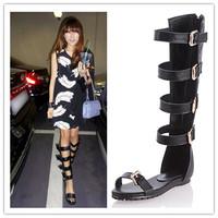 Free shipping women sandals shoes fashion Design sandals women flats High boots summer shoes