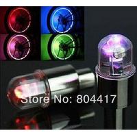 Free Shipping! Wholesale New 4Pcs Colors Bike Bicycle Car Wheel Tire Valve Cap Flash LED Lights Lamp