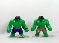 New Arrival 2PCS/Set  The Hulk Action Figure Cute 8CM PVC The Avenger  Building Blocks Toys Best Gift  Free Shipping