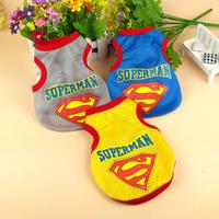 Summer Pet Clothes Super Man Cool Mesh Vest Dog T-shirt For Poodle Bichon