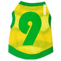 Pet Clothes Mesh Yellow Green NO.9 Dog Vest T-shirt For Poodle Chihuahua Bichon