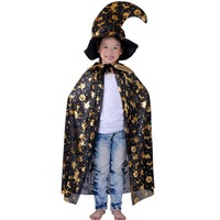 2014 Halloween clothes 90cm adult child gold silver pumpkin mantissas cap 0.35kg  Free Shipping