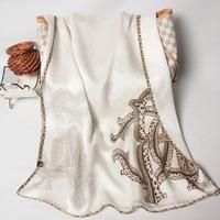 102048 2014 Newest Women's brand Georgette Satin scarf, 100% Silk scarves, rectangle silk scarf, Free Shipping,  Muslim Hijab