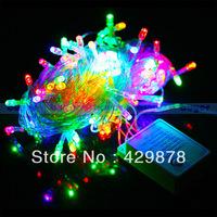 10m Multicolour, Warm White ,White 100 LED 8-Modes String 220V Light Party Chrismas Lamp Decoration led 100cm three colour