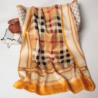 102039 2014 Newest Women's brand Georgette Satin scarf, 100% Silk scarves, rectangle silk scarf, Free Shipping,  Muslim Hijab