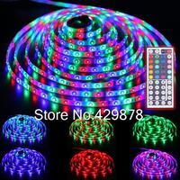 5m RGB Multicolor 300 LED 3528 SMD Waterproof Strip Light led bulb 60leds/m String Bulb Lamp 12V+ 44 Key Remote led lamp lamps