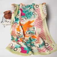 102037 2014 Newest Women's brand Georgette Satin scarf, 100% Silk scarves, rectangle silk scarf, Free Shipping,  Muslim Hijab