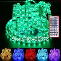 5m Multicolor RGB 300 LED 5050 SMD Waterproof Strip flexible light String Bulb Lamp 12V 44 Key Remote led lamps led bulb