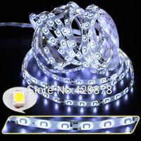 free shipping 5m White 300 led 3528 SMD 60leds/m flexible Strip Light Bulb Lamp 12V non waterproof String led lamp lamps