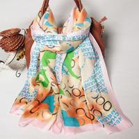 102061 2014 Newest Women's brand Georgette Satin scarf, 100% Silk scarves, rectangle silk scarf, Free Shipping,  Muslim Hijab