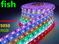 20 Roll LED RGB Strip SMD 5050 Flexible Light 60 LED/M 300LED  IP66 waterproof 100m/lot wholesale free shipping