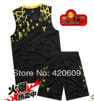 2014 Newest Men Summer Sport Jersey Embroidery Shoulder Man Basketball Clothing Kobe Brand Active Clothes 1 Set Free Shipping