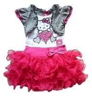 Retail,New 2014 very beautiful Girl Dresses hello kitty Princess Dresses baby tutu dress free shipping free shipping