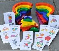 Tieramid puzzle blocks puzzle wooden building blocks child
