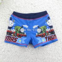 5pcs/lot Boys swimming trunks Children Kids Classic Swimwear Tomas train SquarePants Swim Pants Boxer beach Shorts