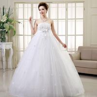 2014 new fashion Korean women waist large size wedding dress