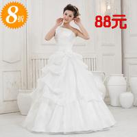 2014 new Korean shoulder straps embroidered lace wedding dress