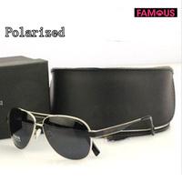 High quality Men's cool chauffeur-driven vintage sports sunglasses G3204 designer metal brand polarized sunglasses for men