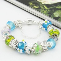 SP22 free shipping, 925 silver bracelets for women, snake chain Bracelets & Bangles, 2014 new, beads charm bracelets jewelry