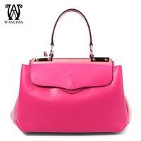 Genuine leather elegant bags women's handbag portable large capacity spring patchwork shoulder bag