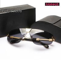 New drivers SPR22N men's toad rimless polarizer sunglasses high quality designer metal brand polarized sunglasses for men