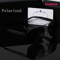 The latest SPR52 men's black box driving polarized sunglasses metal brand designer polarized sunglasses for men