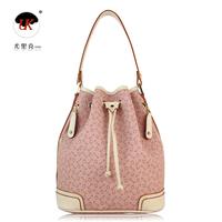 Uk brand women's handbag fashion genuine leather handbag women's bucket bag jt5260 pink