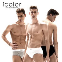 Free shipping2014 new collection Piece set icolor male panties sports panties solid color cotton male briefs sexy panties male