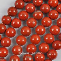 "10MM Red Jasper Round Loose Beads Strand 15.5"" Jewelry Making Free Shipping B346"