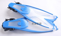 2014 Adjustable pink flippers Maldives freestyle long flippers snorkeling equipment necessary Blue 35-37