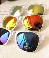 2014 New arrive 20 pcs /lot  madness mens womens clear  retro vitage wayfarer  sunglasses  colore  mirrored sunglasses  uv400