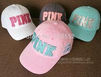 Bling letter women's baseball cap military cap hat female cap