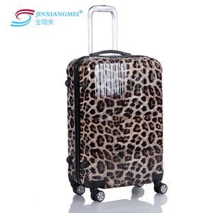 reistas abs trolley bagage universele wielen luipaard print pc bagage ...