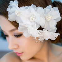 Water bride hair accessory lily hair accessory hair accessory wedding dress hair stick pearl set