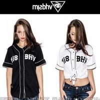 Misbhv summer west t-shirt hiphop vintage the trend of the short-sleeve baseball clothing shirt male baseball uniform