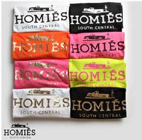 Fashion bltee feline bronzier homies letter short-sleeve T-shirt lovers