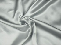 16.5 mm Plain knit satin Fabric 100% pure mulberry silk silvery champagne color 114 cm 45'' width 80 gsm small wholesale
