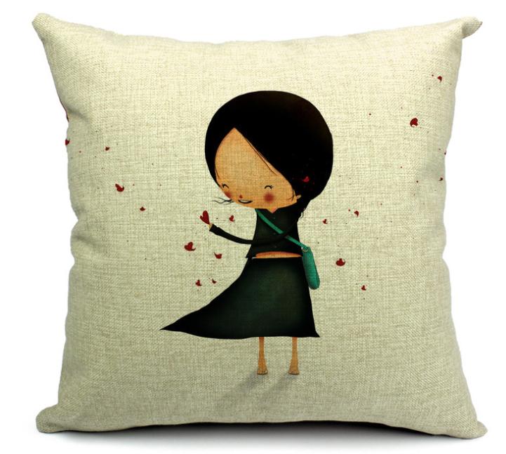 cartoon homens e mulheres em meninos e meninas amor travesseiro inglaterra nórdico algodão almofada do sofá decoração beleza menina(China (Mainland))