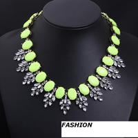 Fashion Necklaces for women 2014 Retro Pendants Romantic Green Jewelry Chains Necklaces