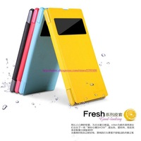 NILLKIN Fresh Series Leather Case For Sony Xperia Z 1 L39H+ retailed package + free shipping