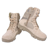 Free shipping 1pair Outdoor high desert boots combat boots marine male boots califs tactical boots