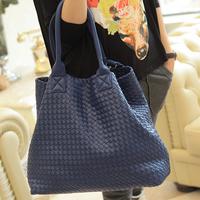 Spring and summer 2014 women's handmade knitted handbag star style woven bag big bag one shoulder tote bag