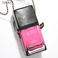 Mikko daily dolly star style three-dimensional nail polish oil women's style messenger bag handbag ad2168