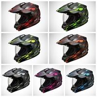 SOL-SS1-0165,Dual-Sport Helmet,Black Edge Series,Cross-country,3 Type Change,Anti-UV Lens,COOLMAX Lining,DOT Test