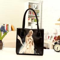 2014 hot sale new fall fashion trend handbags shoulder bag handbag retro canvas bag wholesale printing comics