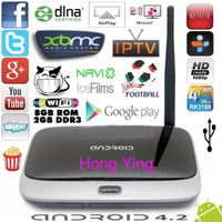 Q7 Android tv box Quad Core CS918 T-R42 K-R42 MK888 MK888B MK918 Android 4.2 RK3188 Cortex-A9 TV Stick XBMC Player 2G/8G Antenna