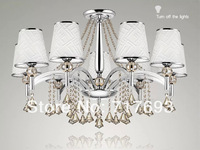 Free shipping  Hot  2014  Top grade  Modern simple European Crystal chandelier  Living room   club bed room 9 lights