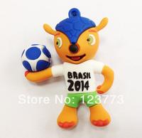 New wholesale 10pcs /lot cartoon Football mascot model usb flash pendrive 1-32GB usb stick flash drive pen drive