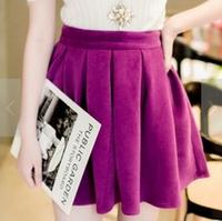 2014 New Arrival Fashion Brand Lady Elastic Bitter Fleabane Pleated Women Skirt Top Quality